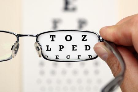 Буквы сквозь очки