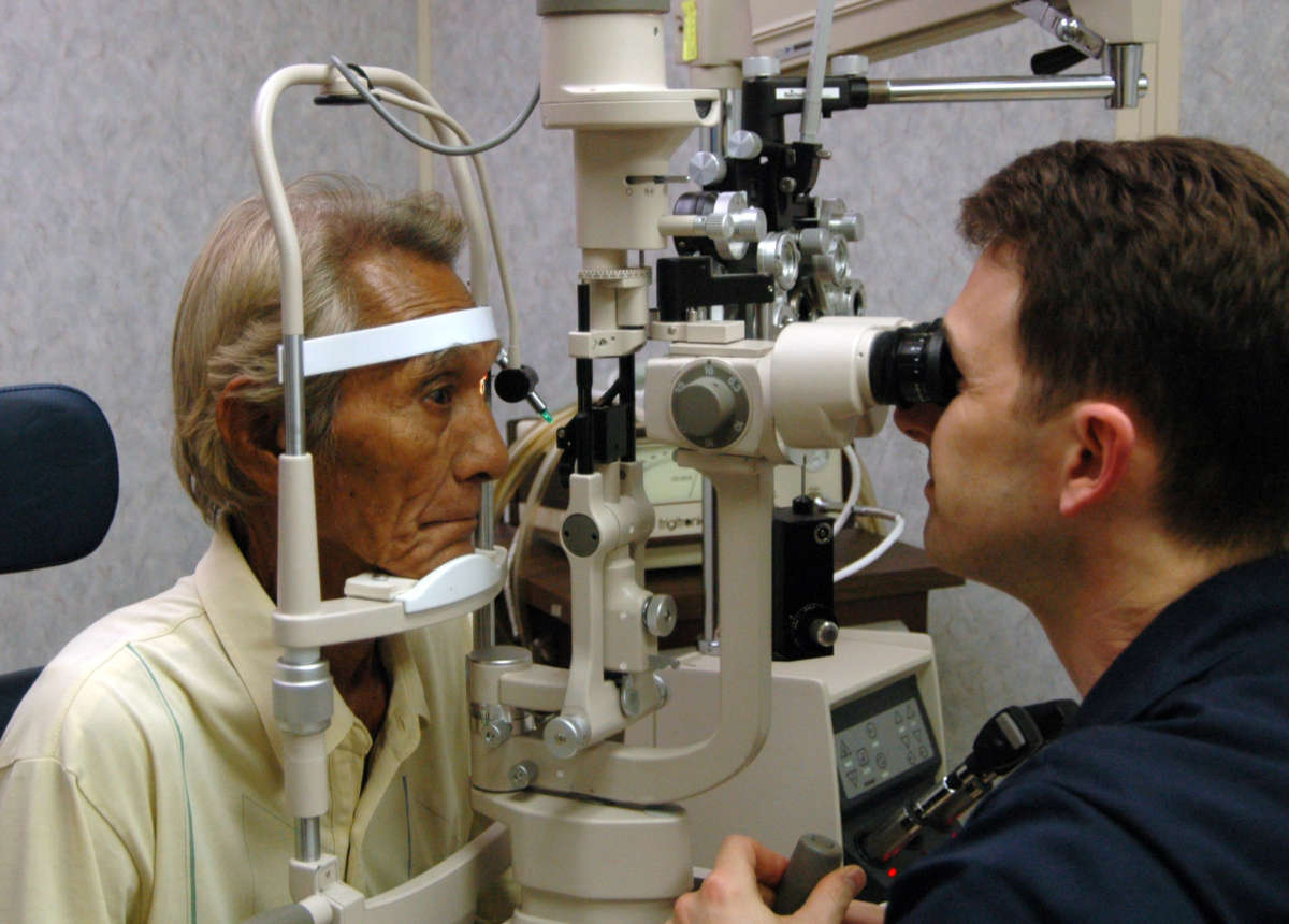 vision impaired patient Visual impairment, also known as vision impairment or vision loss, is a decreased ability to see to a degree that causes problems not fixable by usual means, such as glasses.