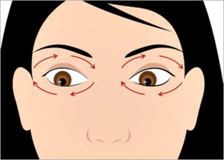 Круговые движения глазами, гимнастика для глаз