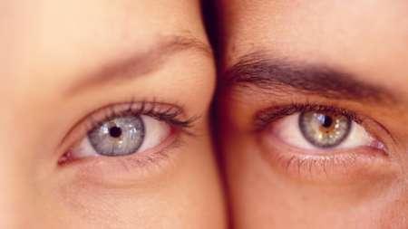 Женский глаз и мужской глаз