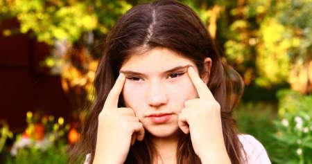 У девочки близорукость миопия
