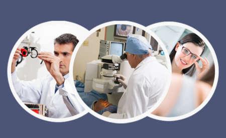Офтальмолог обследует пациента