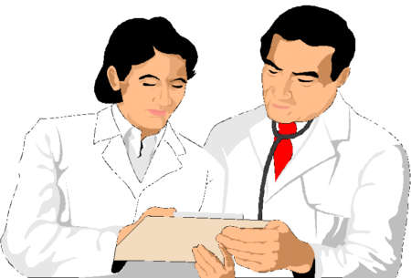 Мужчина и женщина врачи рисунок
