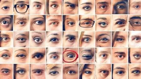 Коллаж из множества глаз