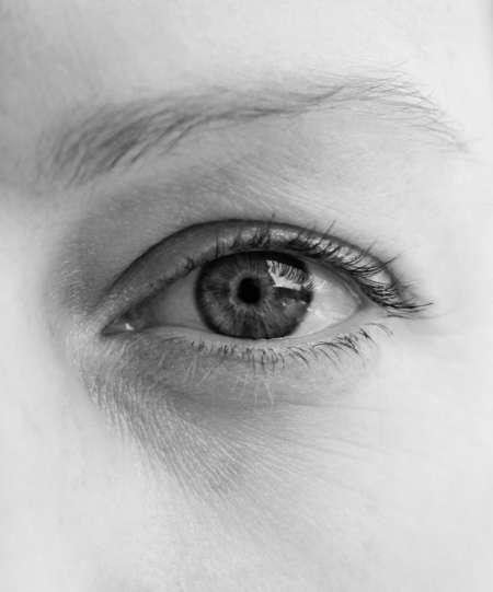 черно-белое фото глаза