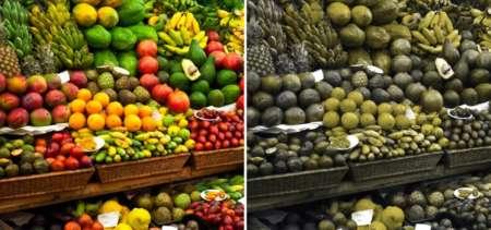 как видят овощи дальтоники
