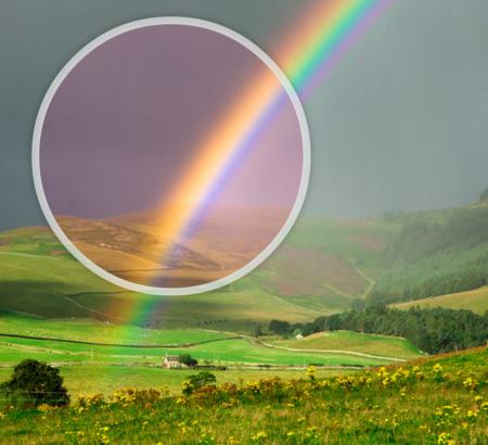 как видят радугу дальтоники