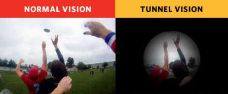 нормальное зрение и туннельное зрение