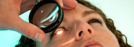 Исследование глазного дна линзой Гольдмана